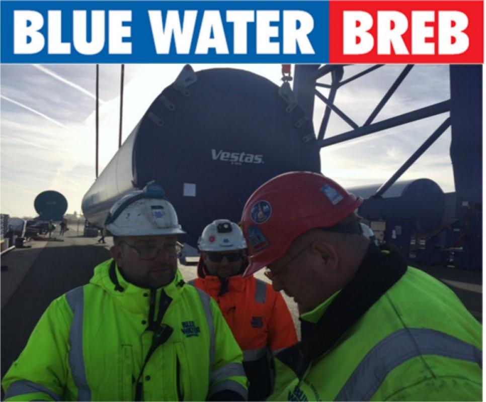 Blue Water BREB schlägt VESTAS Komponenten in Cuxhaven um